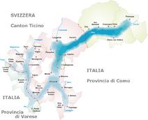 Lago di Lugano-Mappa
