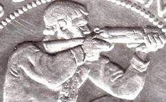 Rifleman on coin