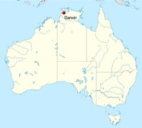 Australia location map-Darwin