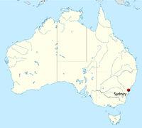 Australia location map-Sydney