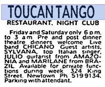 Toucan Tango Anzeige SMH 05.05.1989