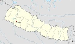 Nepal location map-Surkhet