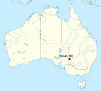 Australia location map-Broken Hill