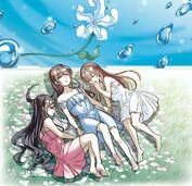 Sisters Xi Yan, Yue Jian and Zhao Yan Nan Gong