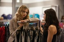 Rose and Lissa shopping