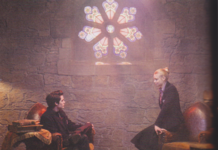 Lissa and Christian in attic church