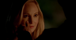 Stefan touching Caroline face 5x20