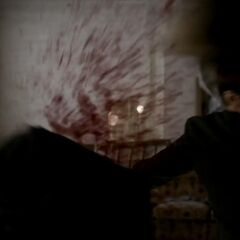 Elijah decapitating Trevor.