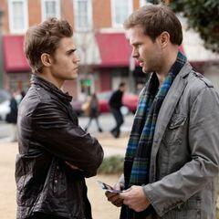 Stefan with Alaric about Damon