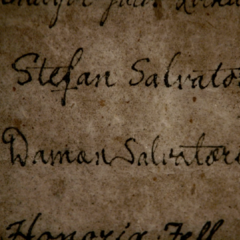 Stefan and Damon's signs in the list of guests