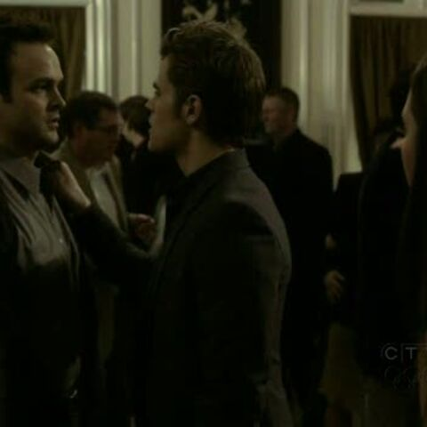 An angered Stefan compels Duke to apologize.
