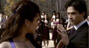 Tvd 1x19 elena damon dancing
