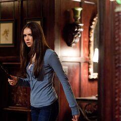 Elena with a stake