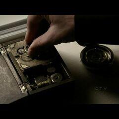 John activates the device