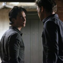 Alaric and Damon talking about their friendship