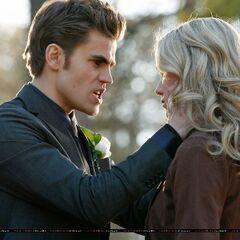 Stefan compelling Amber.