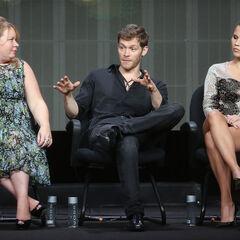 Julie Plec, Joseph Morgan, Claire Holt