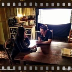 Elena and Matt - 4x15 - BTS