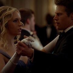 Caroline and Matt dance together at the Mikaelson's Ball.