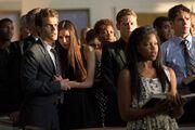 Elena, Stefan, Matt, Jeremy Staffel 4 in der Kirche