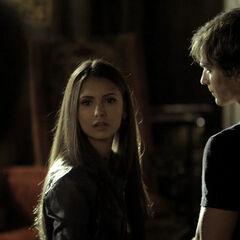 Stefan kommt rein als ich Elena und Damon unterhalten.