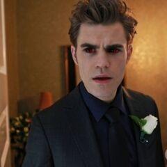 Stefan's vampire face.
