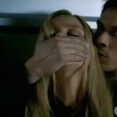 Damon and Rebekah hide from Alaric