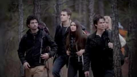"Vampire Diaries 4x13 Into the Wild - Rebekah Damon Stefan Elena ""You have a nice behind"""