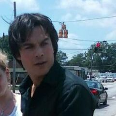 Ian on set