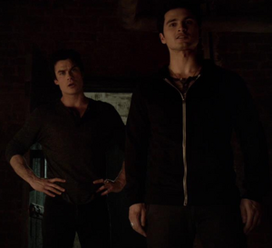 Damon and Enzo in 5x13..