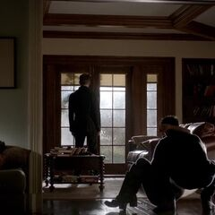 Back to the view of living room 2, the picture on the left is where Damon was drawing the dancing puppy