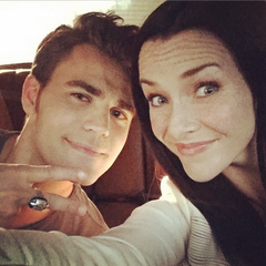 Paul Wesley, Annie Wersching August 18, 2015