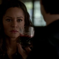 Damon offers Abby some blood.