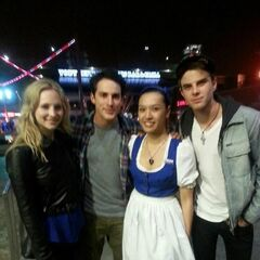Candice, Michael, a fan and Nathaniel