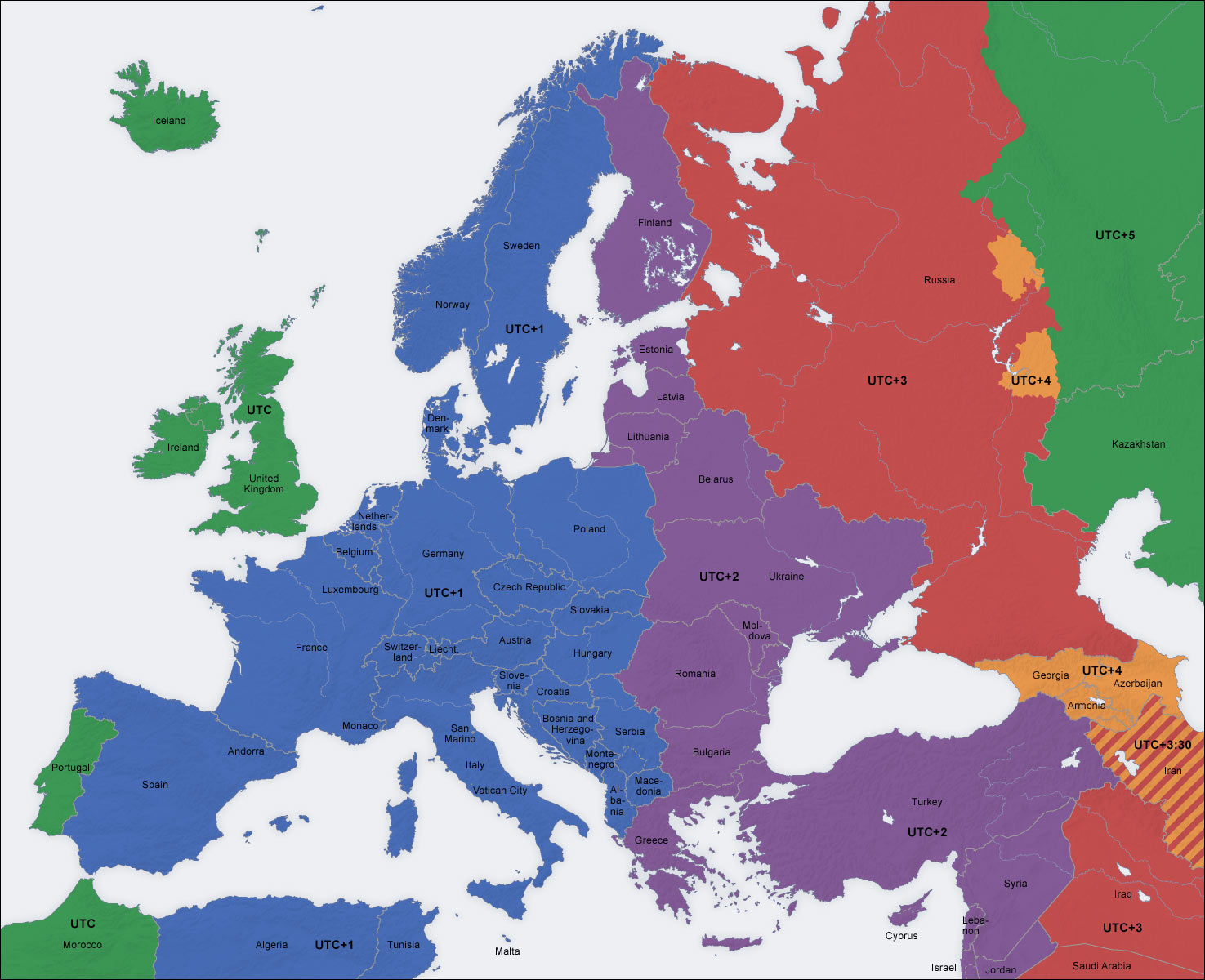 Image - Europe time zone map.jpg | The Vampire Diaries Wiki | FANDOM ...