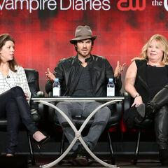 Caroline Dries, Ian Somerhalder, Julie Plec