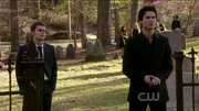The Sun Also Rises ~ Stefan and Damon in Cemetery