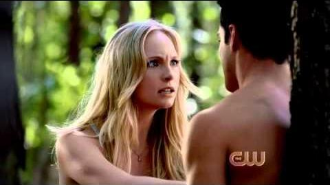 "Vampire Diaries 4x01 - Klaus Caroline ""Maybe i'll take you up on your offer of hot hybrid sex"""