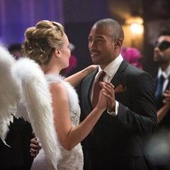 Marcel dancing with Cami