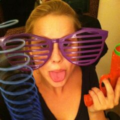 Claire Holt likes to play with her toys.