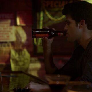 Josh inside the tavern