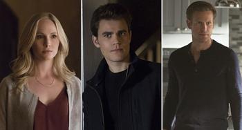 Stefan, Caroline and Alaric | The Vampire Diaries Wiki