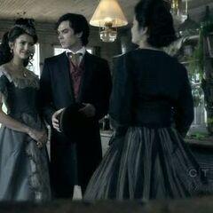 Damon und Katherine in der Apotheke