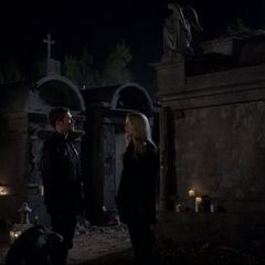 Klaus and Rebekah say goodbye