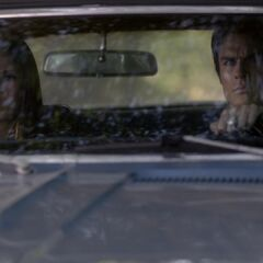 Damon and Elena drive to the Lake house