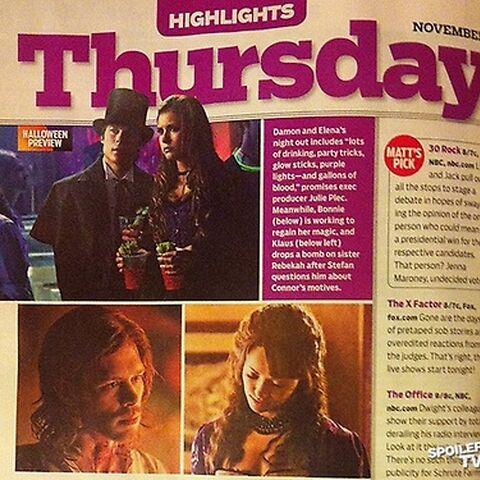 Damon and Elena's costumes