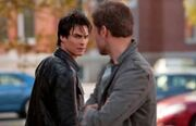 Tvd 1x21 damon alaric waiting