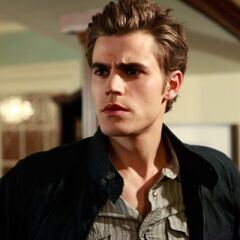 Stefan in Elena's house.