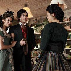 Katherine with Damon