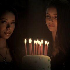 Bonnie lighting birthday candles